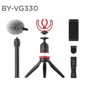 Boya BY VG330 Vlogging kit with BY-MM1 and smartphone holder