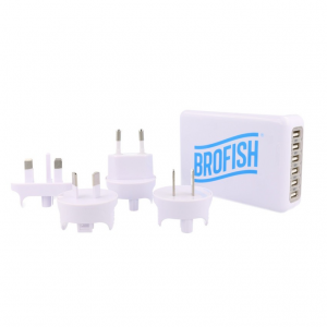 Brofish USB Wallcharger 6 Port white