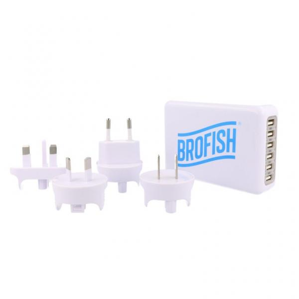 Brofish USB Wallcharger 6 Port white