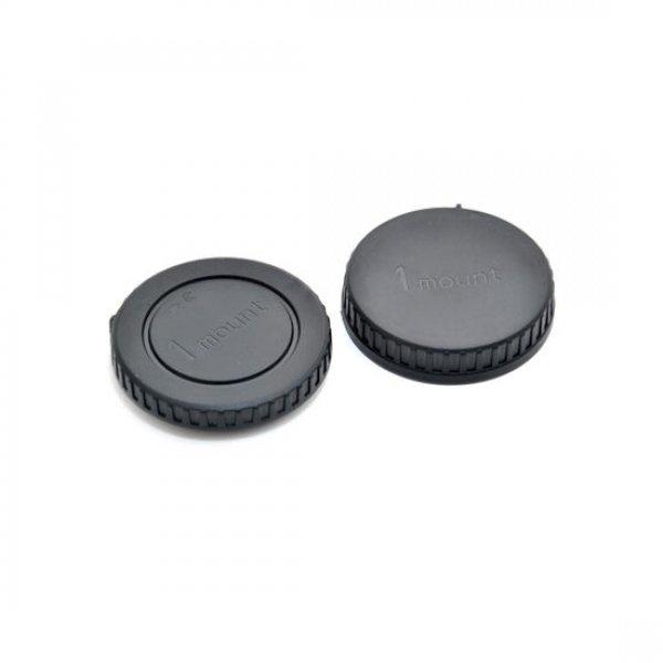 Caruba LB-NI2 Nikon bodydop + Nikon achterlensdop 1