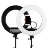 Caruba Round Vlogger 12 inch LED set met tas - Black