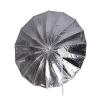 Falcon Eyes Jumbo Flitsparaplu UR-T86S Zilver/Wit 216 cm