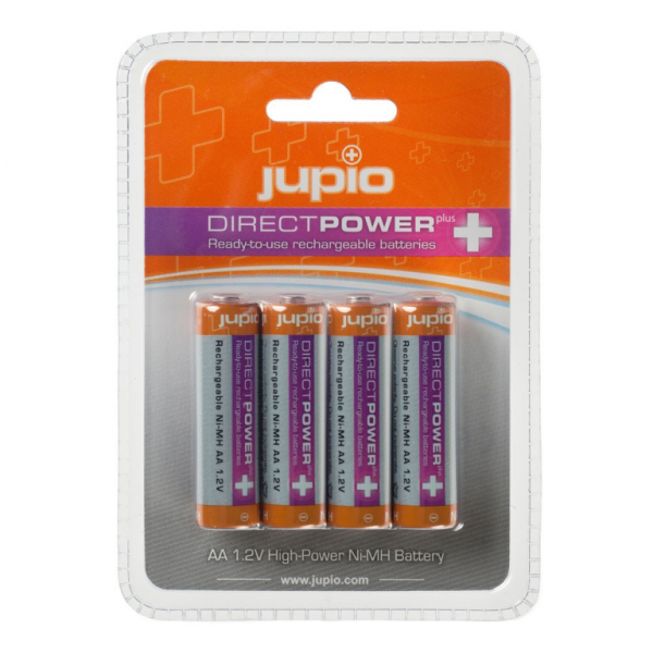 Jupio Rechargeable Batteries AA 2500 mAh 4 pcs DIRECT POWER PLUS