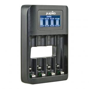 Jupio USB 4-slots Battery Fast Charger LCD