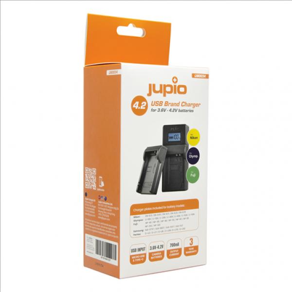 Jupio USB Brand Charger for Fuji/Olympus/Nikon 3.6V-4.2V batteries