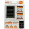 Jupio Value Pack: 2x Battery DJI Osmo Action AB1 1220mAh + Compact USB Triple Charger