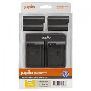 Jupio Value Pack: 2x Battery EN-EL15C 2100mAh + USB Dual Charger