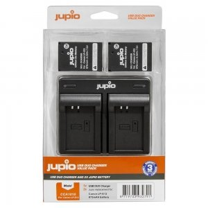 Jupio Value Pack: 2x Battery LP-E12 + USB Dual Charger