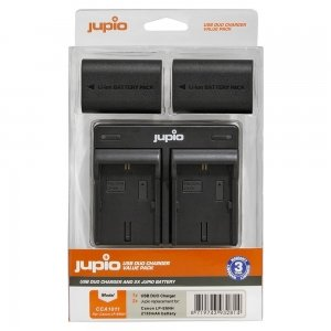 Jupio Value Pack: 2x Battery LP-E6NH 2130mAh + USB Dual Charger