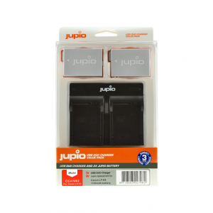 Jupio Value Pack: 2x Battery LP-E8 1120mAh + USB Dual Charger