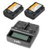 Jupio Value Pack: 2x Battery NP-FZ100 2040mAh + USB Dual Charger