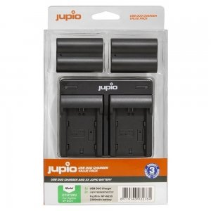 Jupio Value Pack: 2x Battery NP-W235 + USB Dual Charger