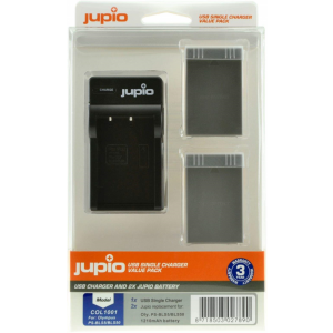 Jupio Value Pack: 2x Battery PS-BLS5 / PS-BLS50 1210mAh + USB Single Charger