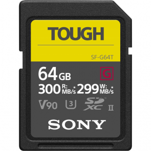 Sony ProSD Tough 18x stronger - 64GB UHS-II R300 W299 - V90