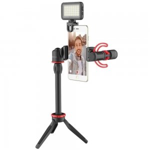 Boya Vlogging BY VG350 kit with BY-MM1+ and smartphone holder + LED