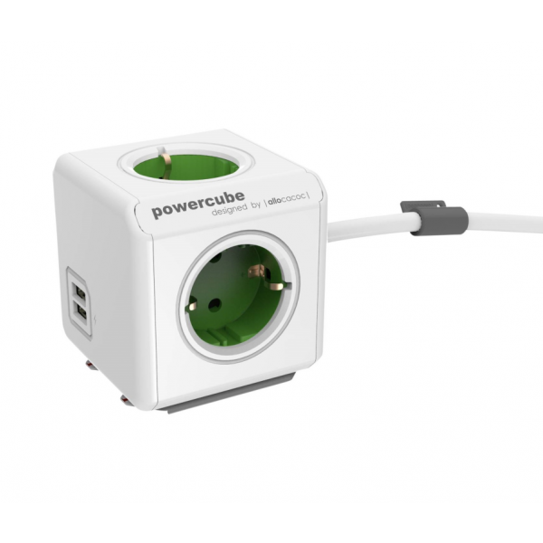 Allocacoc PowerCube Extended Green 1