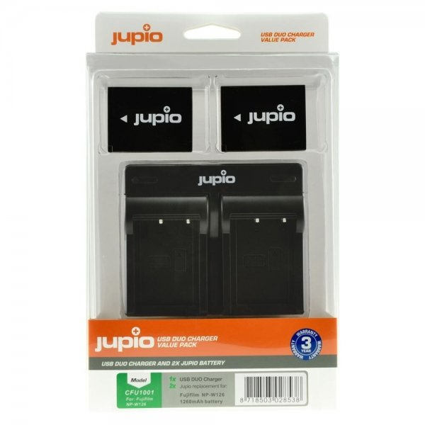 Jupio Value Pack: 2x Battery NP-W126S + USB Dual Charger
