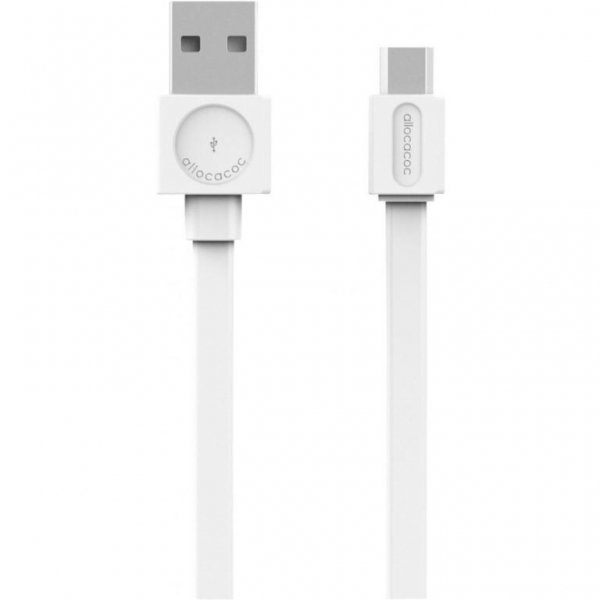 Allocacoc microUSB kabel wit 1