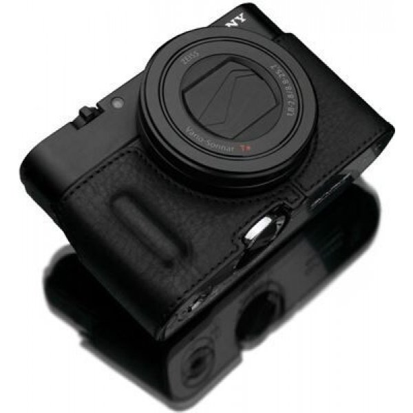 Gariz Halfcase HG-RX100M3BK RX100III/IV builtin grip Black