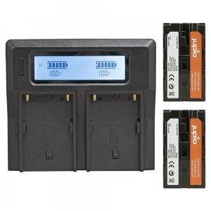 Jupio PowerLED Batterypack F970 - 2x battery (6000mah) + Duo Charger (EU/UK)