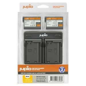 Jupio Value Pack: 2x Battery EN-EL15B 1700mAh + USB Dual Charger