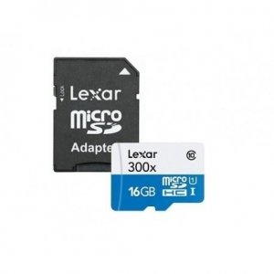 Lexar microSDHC 16GB 300x met adapter
