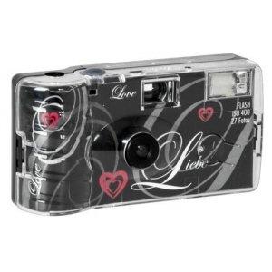 Single use Camera Flash 400 27 Love Zwart